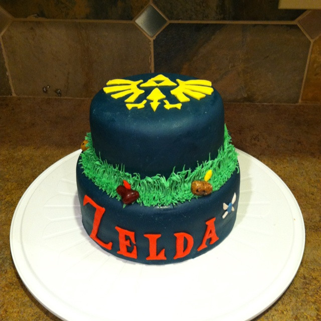 Best ideas about Zelda Birthday Cake . Save or Pin Zelda themed birthday cake for my brother Now.