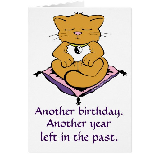 Best ideas about Zen Birthday Wishes . Save or Pin Zen Kitty Cat Meditation Yoga Birthday Card Now.