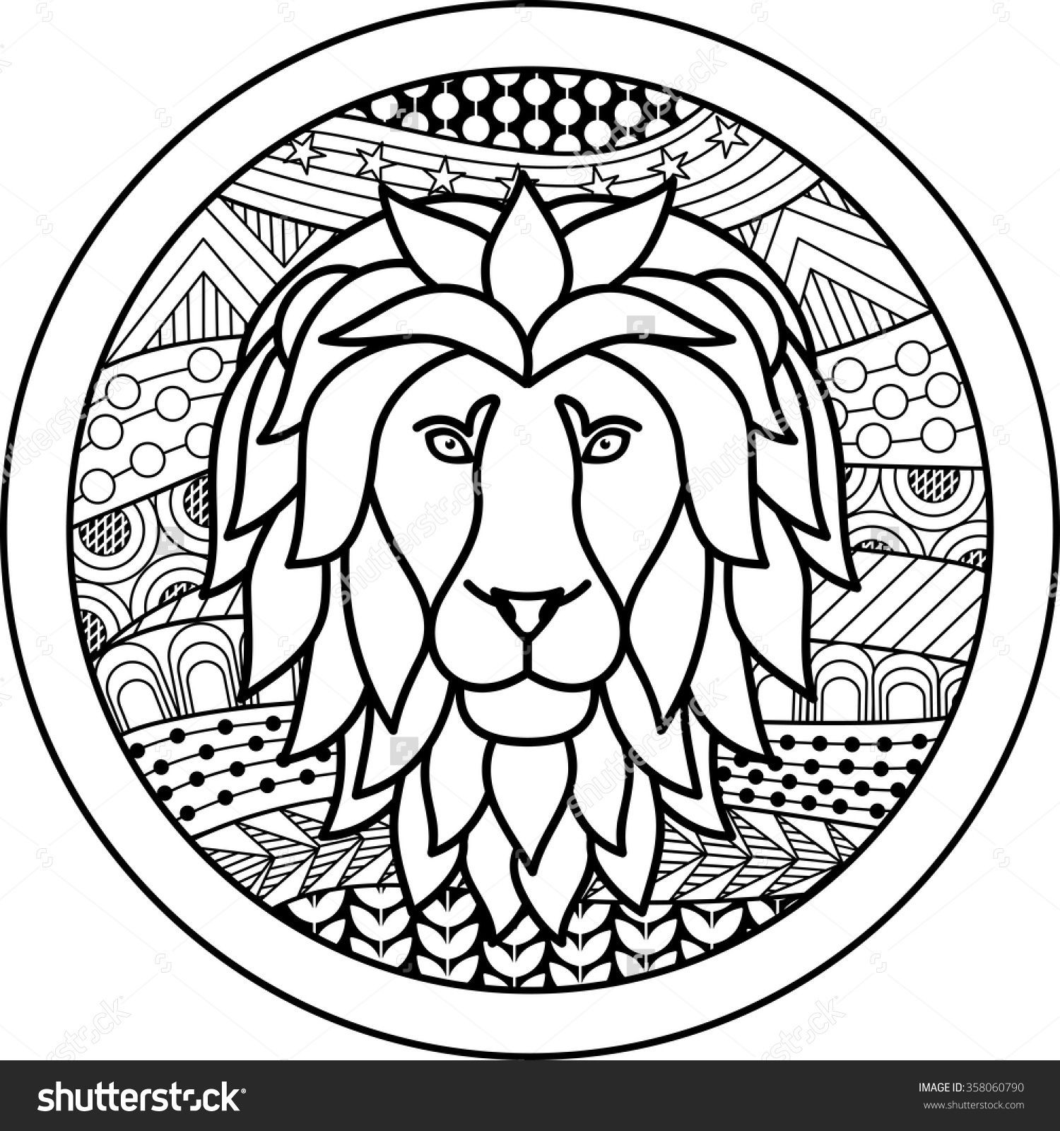 Best ideas about Zodiac Coloring Pages For Adults . Save or Pin Zodiac sign Leo zentangle Now.
