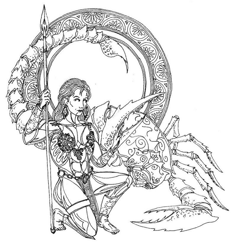 Best ideas about Zodiac Coloring Pages For Adults . Save or Pin Art Therapy coloring page astrology Scorpio 13 Now.