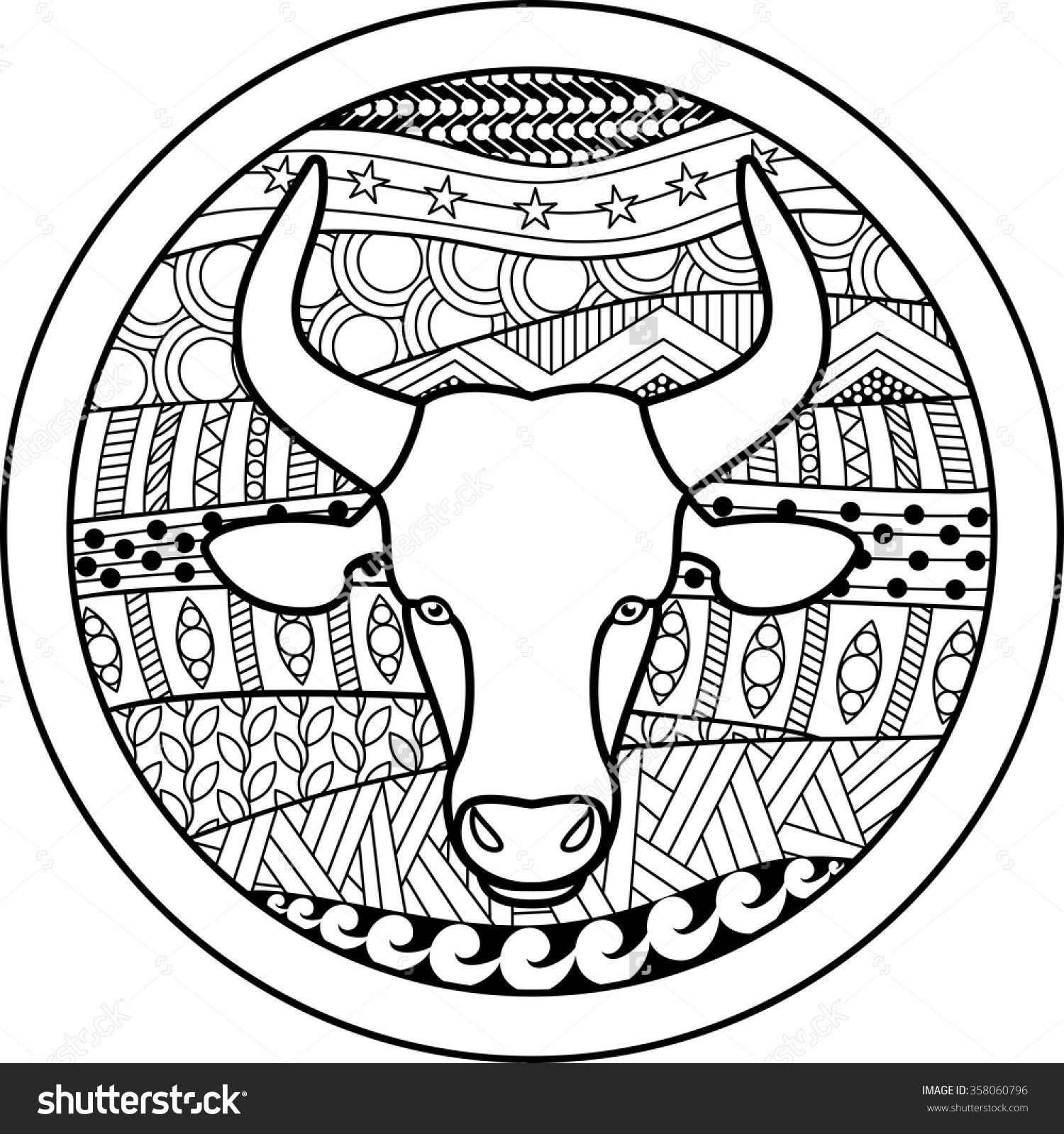 Best ideas about Zodiac Coloring Pages For Adults . Save or Pin Zodiac sign Taurus zentangle Now.
