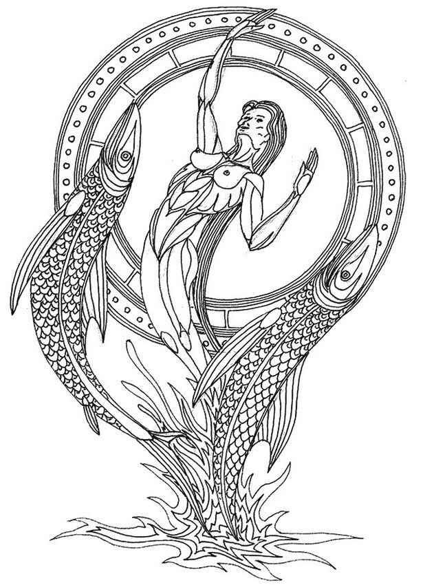 Best ideas about Zodiac Coloring Pages For Adults . Save or Pin Pisces zodiac adult colouring Now.