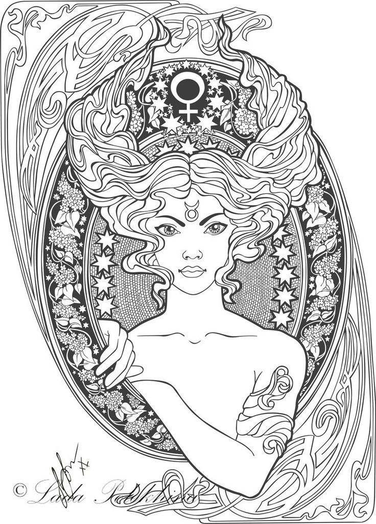 Best ideas about Zodiac Coloring Pages For Adults . Save or Pin Ähnliches Foto Stress Illustration Art Now.
