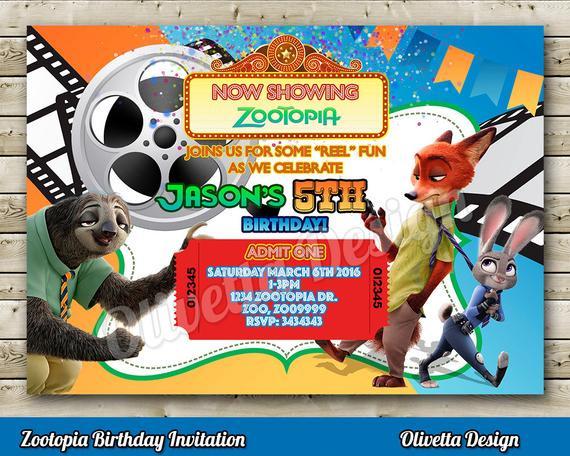 Best ideas about Zootopia Birthday Invitations . Save or Pin Zootopia Invitation Zootopia Birthday Invitation Now.