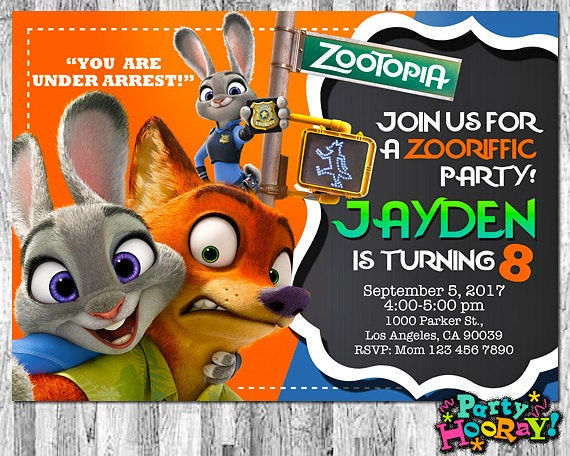 Best ideas about Zootopia Birthday Invitations . Save or Pin Zootopia Invitations Zootopia Invite Zootopia Birthday Now.