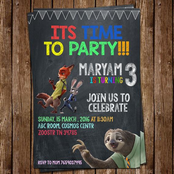 Best ideas about Zootopia Birthday Invitations . Save or Pin Zootopia invitation Zootopia Party Invitation Make by Now.