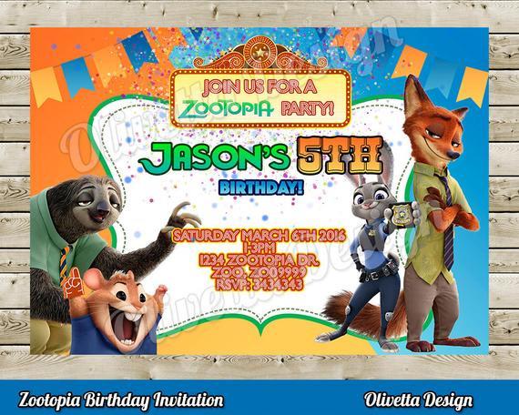 Best ideas about Zootopia Birthday Invitations . Save or Pin Zootopia Invitation Zootopia Birhtday Invitation Zootopia Now.