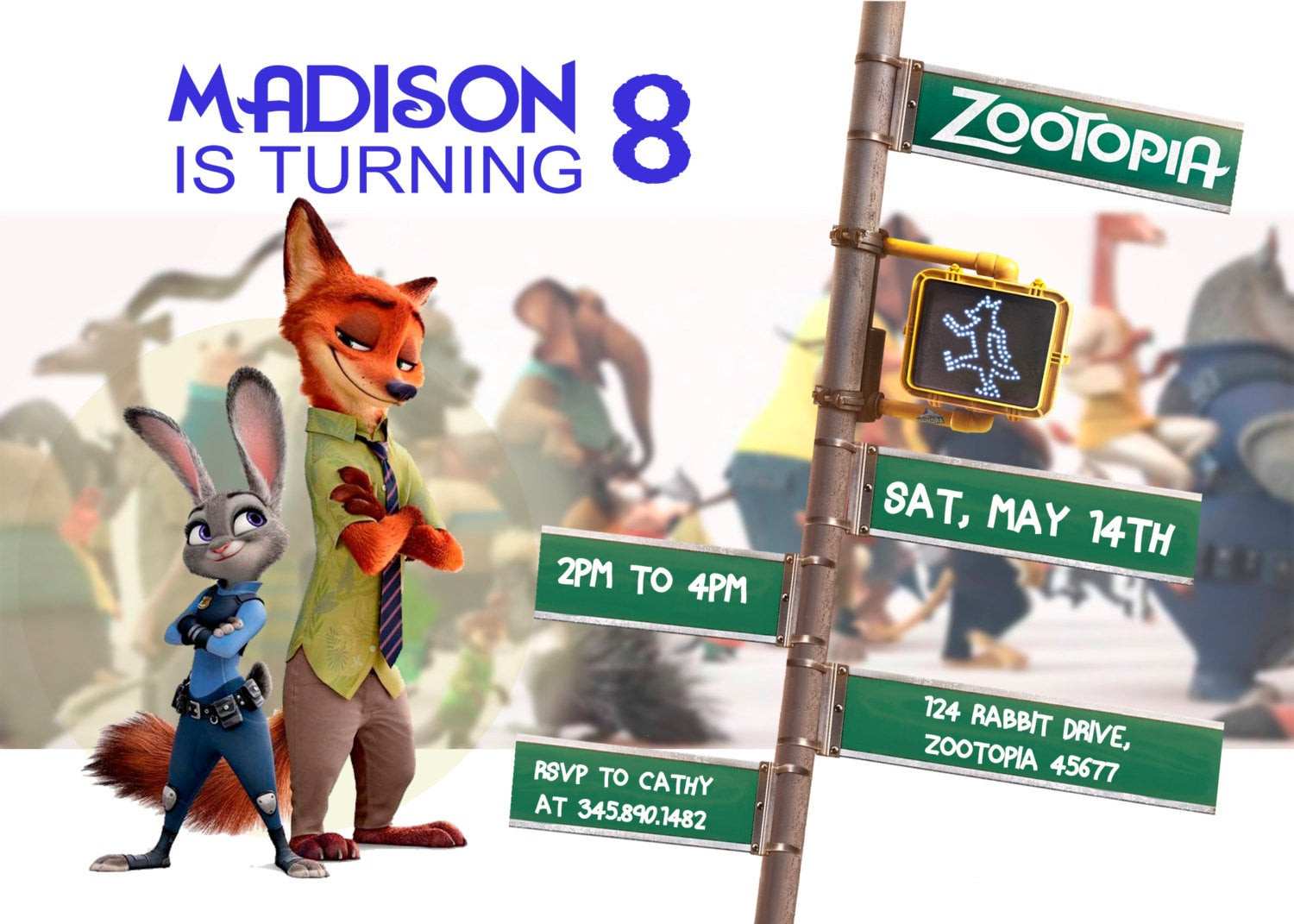Best ideas about Zootopia Birthday Invitations . Save or Pin Zootopia Invitation Birthday Disney Invite customized Now.