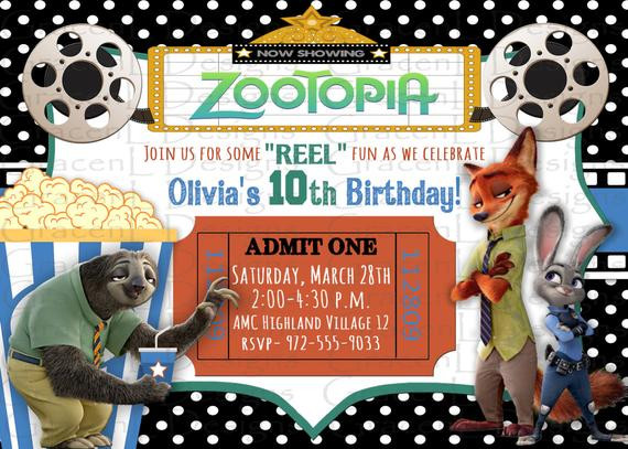 Best ideas about Zootopia Birthday Invitations . Save or Pin Zootopia Invitation Zootopia Birthday by BelleAmitieDesigns Now.
