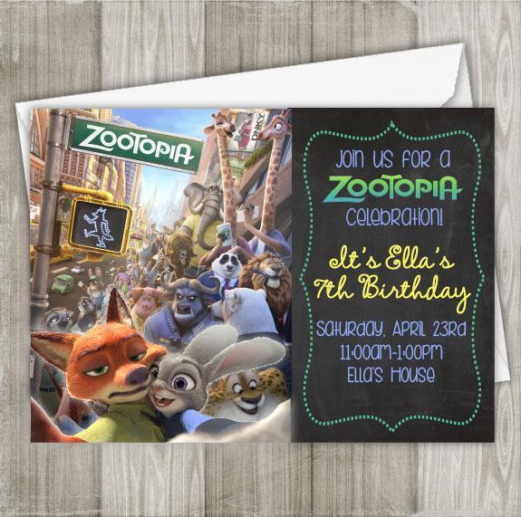 Best ideas about Zootopia Birthday Invitations . Save or Pin Zootopia Digital Birthday Invitation Now.